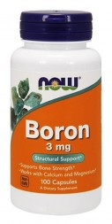 NOW Boron 3 мг (100 капсул)