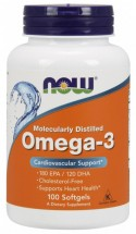 NOW Omega 3 1000 мг (100 капс)