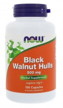 NOW Black Walnut Hulls (500 мг) 100 кап